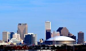 New Orleans skyline, Superdome